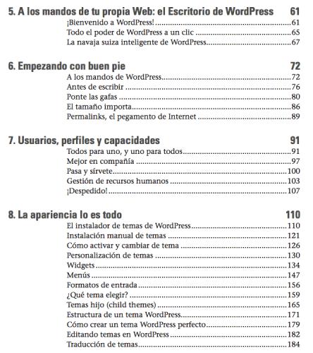 indice libro wordpress