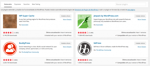 instalador plugins wordpress 4.0