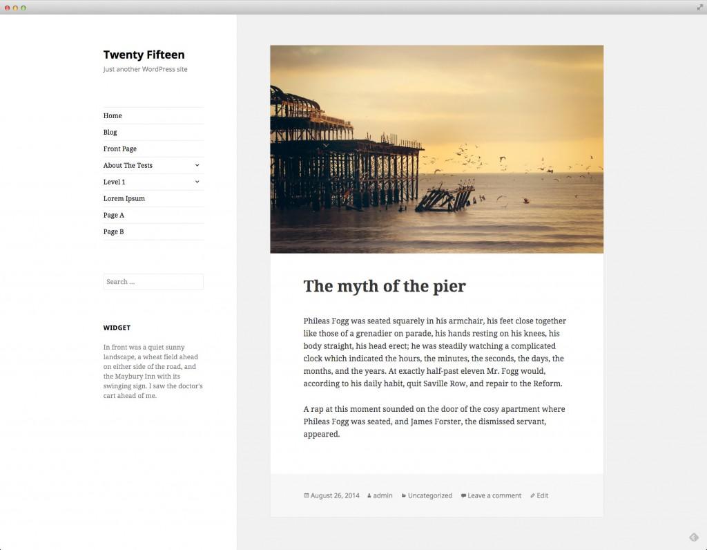 Prueba ya el nuevo tema WordPress por defecto: Twenty Fifteen