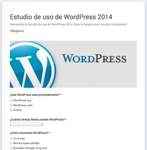 estudio uso wordpress españa 2014