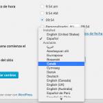 Instalar idioma nuevo