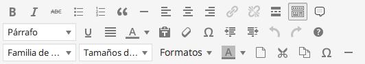 botones tinymce wordpress completo
