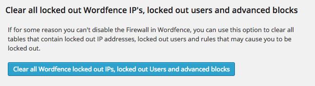 desbloquear ips wordfence