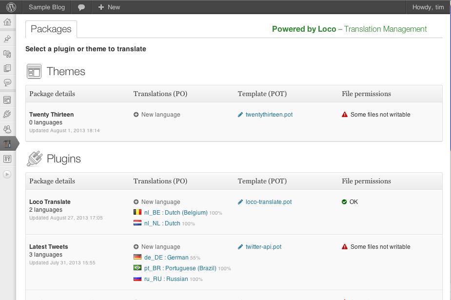 Traducir temas y plugins desde WordPress • Ayuda WordPress