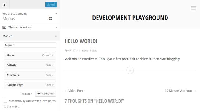 personalizador menus wordpress 4.2