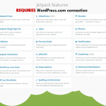 SI requieren conexión a WordPress.com