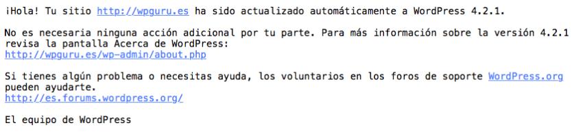 actualización automática WordPress 4.2.1