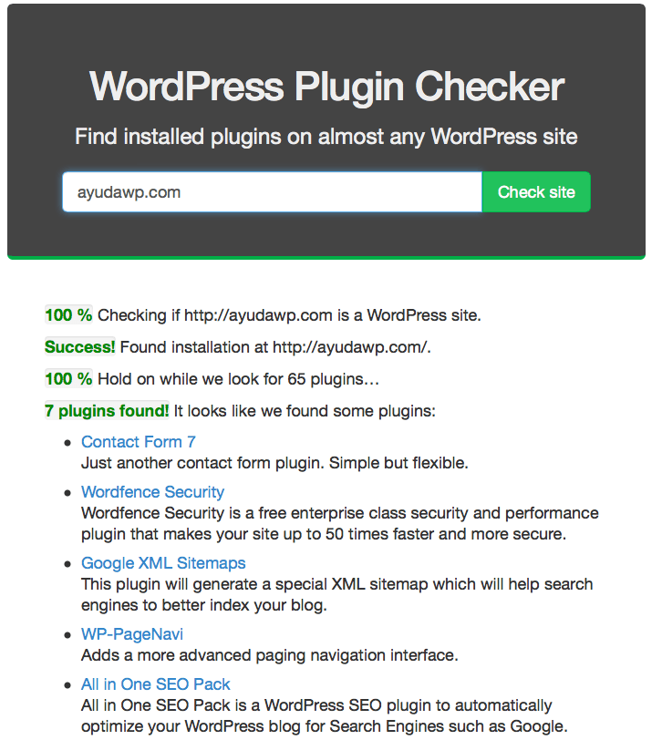How to detect which plugins a web uses • WordPress Help - bootstrapx