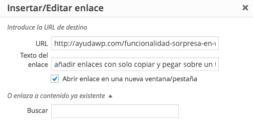 texto del enlace wordpress 4.2
