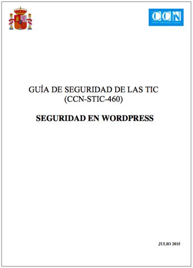 guia seguridad wrodpress ccn