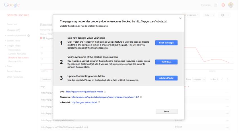 recurso bloqueado por google