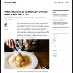 Con ustedes Twenty Sixteen, el tema por defecto en WordPress 4.4