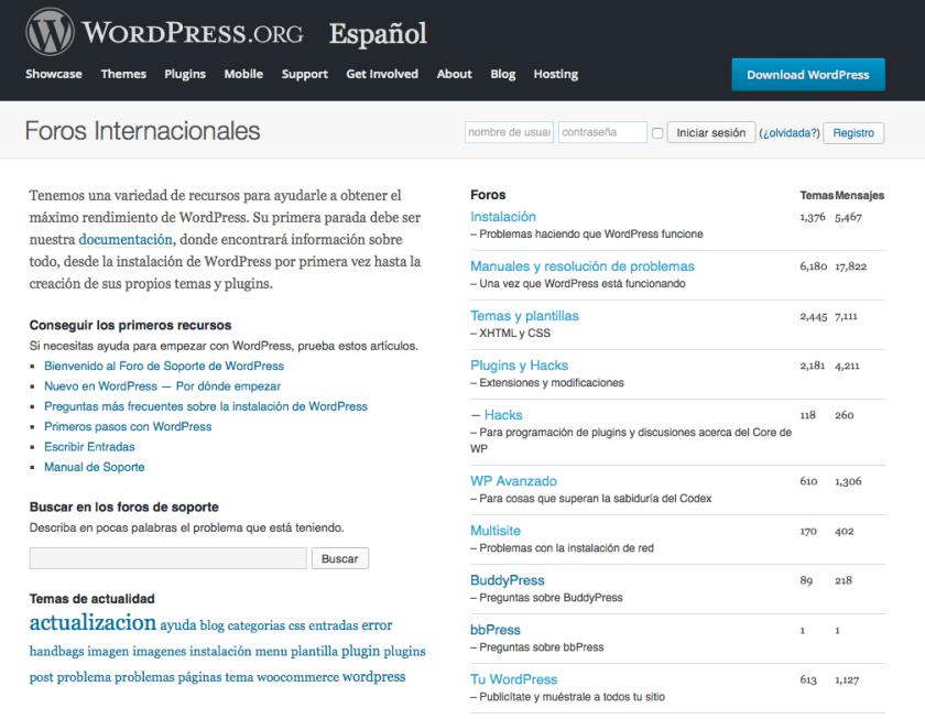 Foros WordPress Español