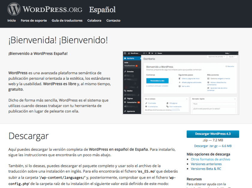 wordpress españa