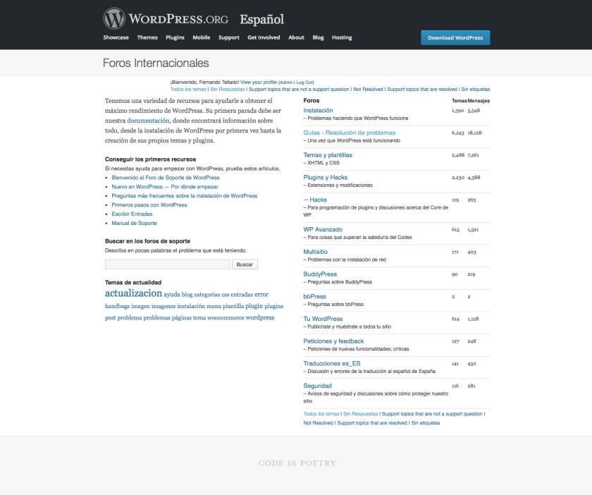 foros wordpress español españa