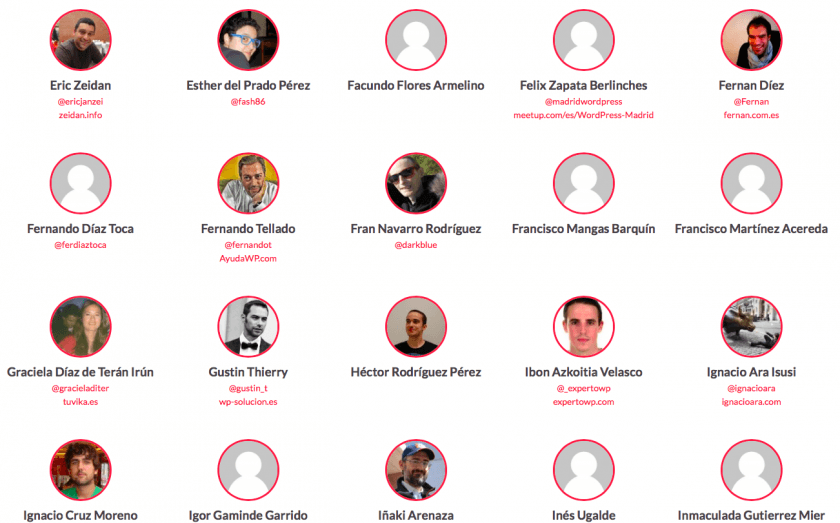 asistentes wordcamp cantabria 2015