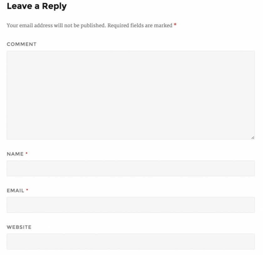 formulario comentarios desde wordpress 4.4