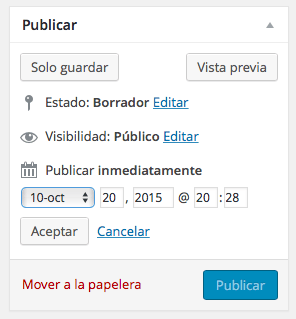 programar entradas wordpress