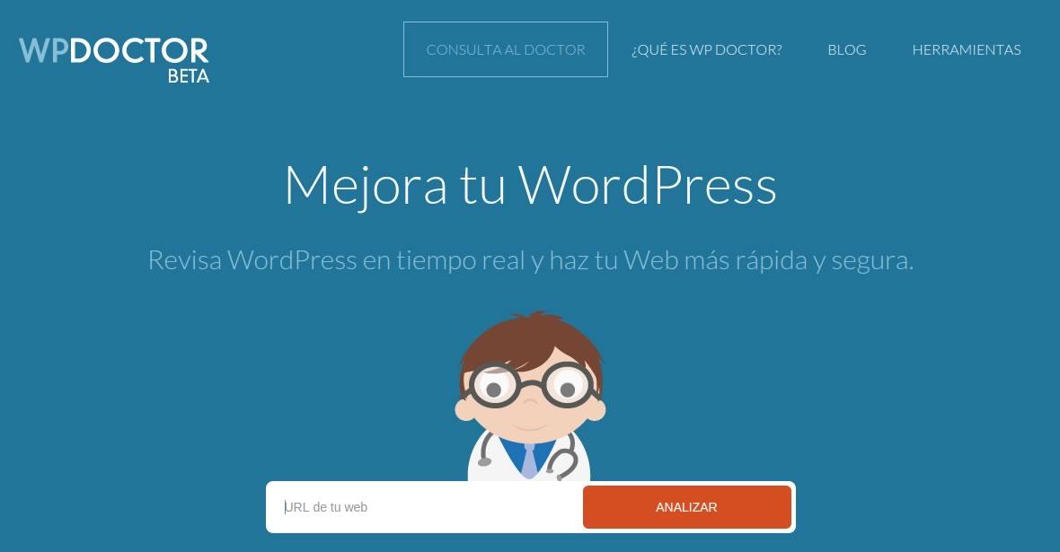 WP Doctor - Análisis gratuito de webs WordPress • Ayuda WordPress