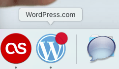icono dock wordpress.com en mac