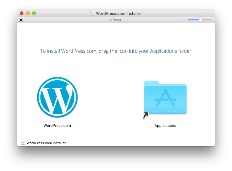 instalar WordPress.com en mac
