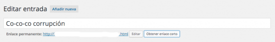 obtener enlace corto WordPress tras 4.4