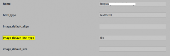 cambiar enlace imagen por defecto ajustes wordpress