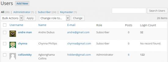 contador acceso usuarios