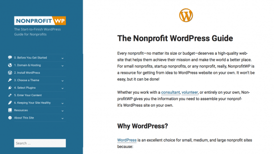 nonprofit wordpress
