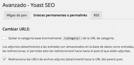 redireccion enlace de archivos en yoast