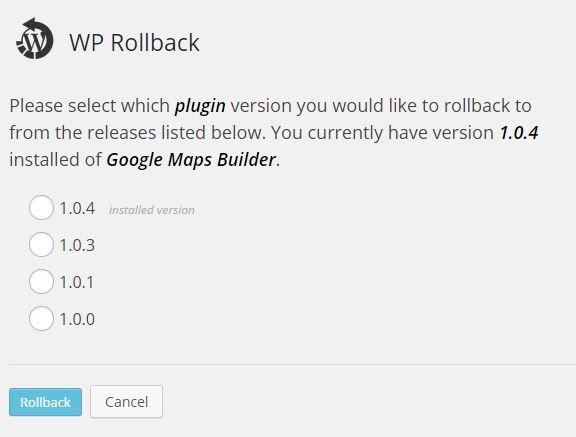 Des-actualizar plugins y temas • Ayuda WordPress
