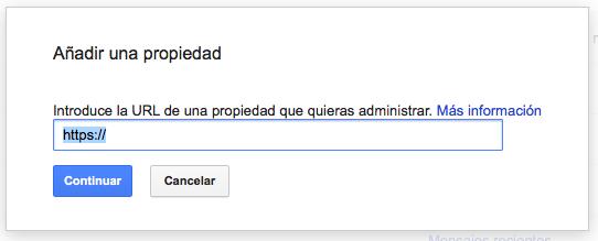 añadir propiedad https en google search console