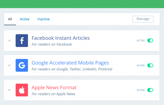 activar amp, fia, apple news pagefrog