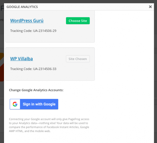analytics integrado amp pagefrog