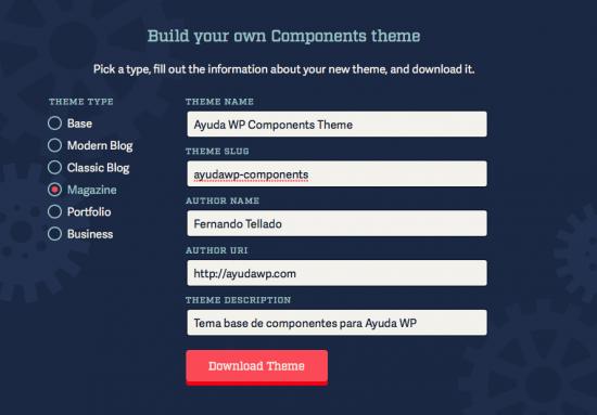 crear tema con components