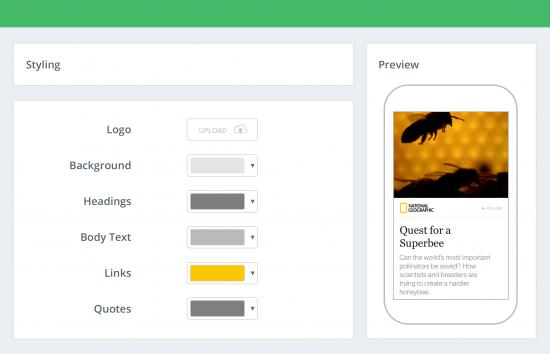 personalizar aspecto amp fia pagefrog