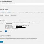 autorizar plugin analytics 5