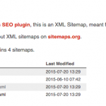 Sitemap con índices (Yoast)