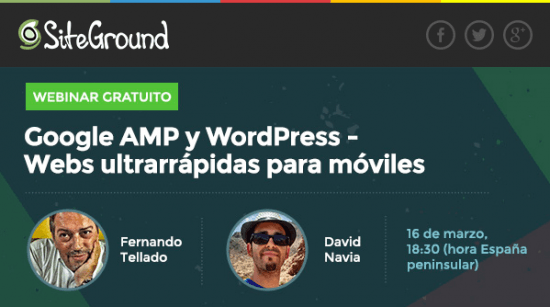 webinar amp WordPress siteground
