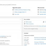 Crea tus propios widgets para el escritorio de WordPress