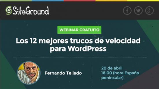webinar velocidad siteground tellado