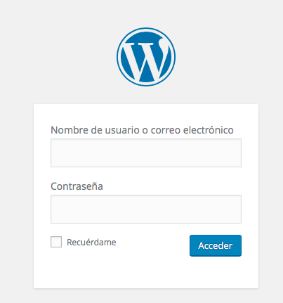 login WordPress tras 4.5
