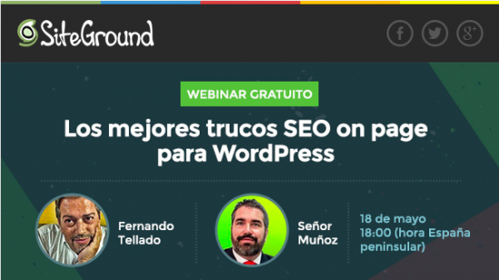 webinar seo on page siteground