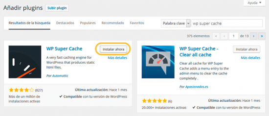 Instalar plugin gratuito de wordpress.org