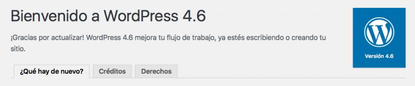 novedades WordPress 4.6
