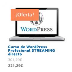 Curso de WordPress presencial en Septiembre, ¡ahora en streaming directo!