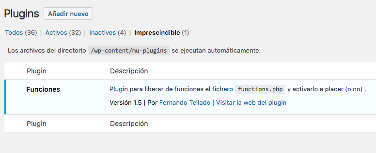 mu-plugins wordpress con cabeceras plugin