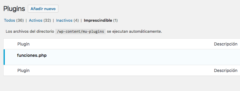 mu-plugins wordpress sin cabeceras plugin