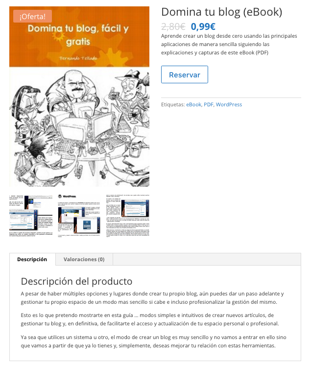 producto descargable woocommerce