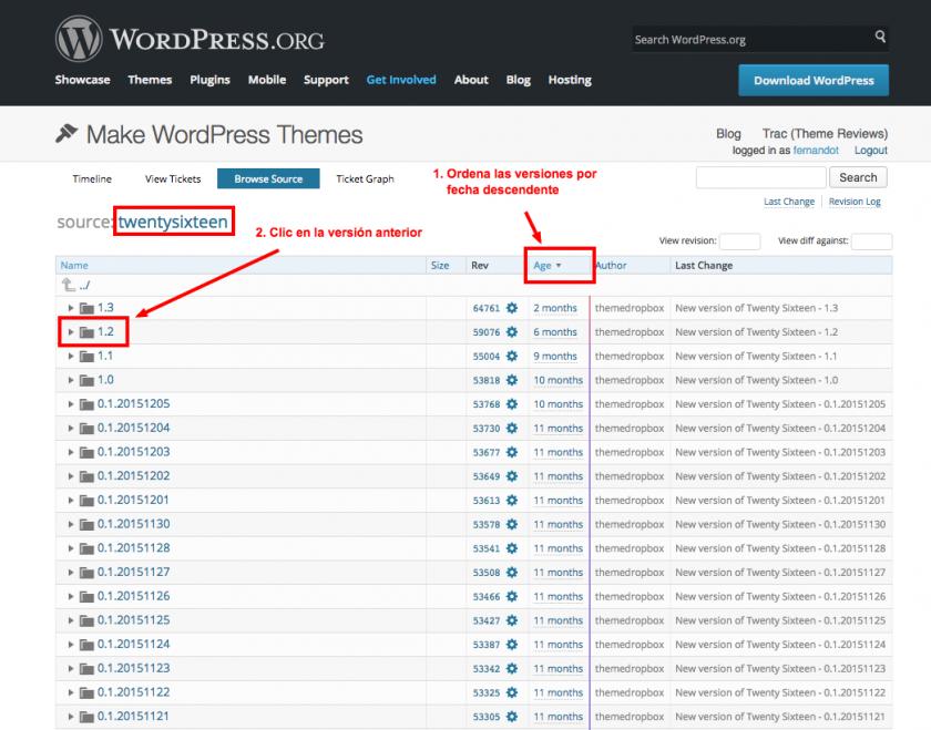 descargar-version-anterior-tema-wordpress-desde-el-trac-1